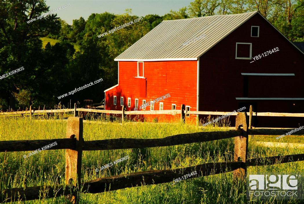 Stock Photo: New Paltz, NY, Country Scene.