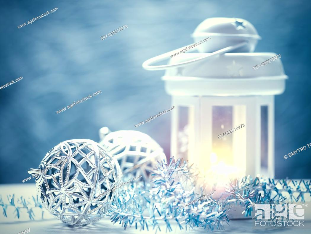 Stock Photo: Abstract Christmas backgrounds with lantern and beauty holiday decorations.