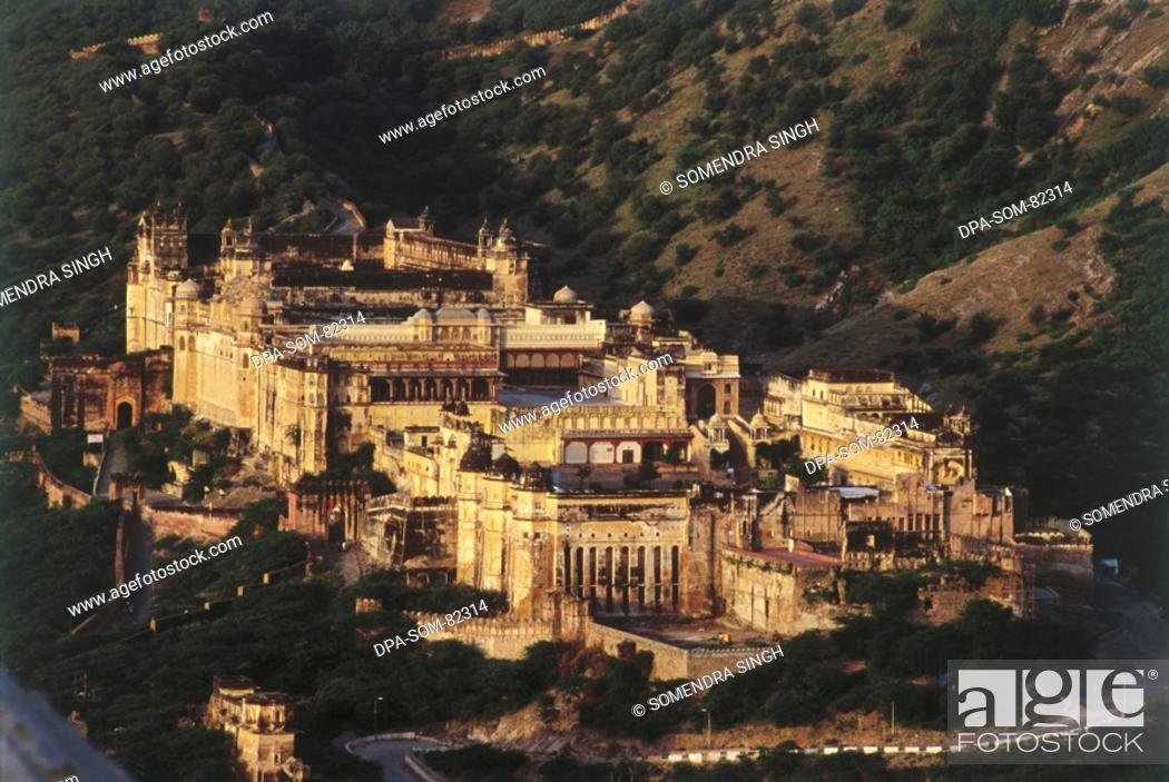 Stock Photo: Amer , jaigarh fort , jaipur , rajasthan , india.
