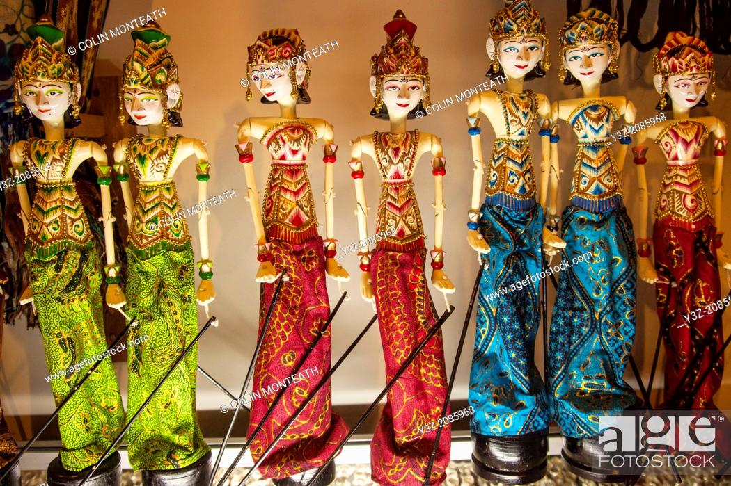 Stock Photo: Traditional puppet dolls, Bali, Indonesia.