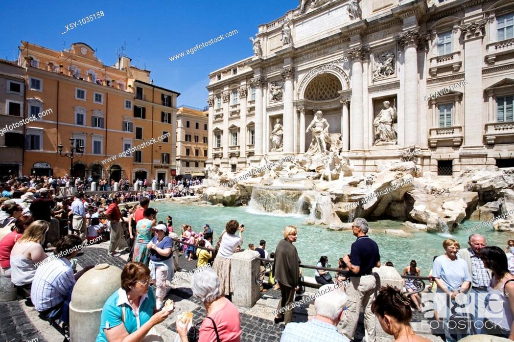 Stock Photo: Trevi Fountain in Rome Italy.