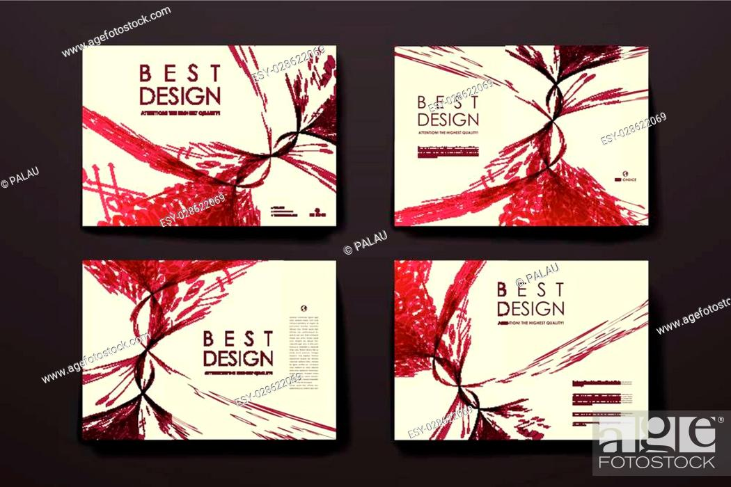 Stock Vector: Set of brochure, poster templates in abstract style. Beautiful design and layout.