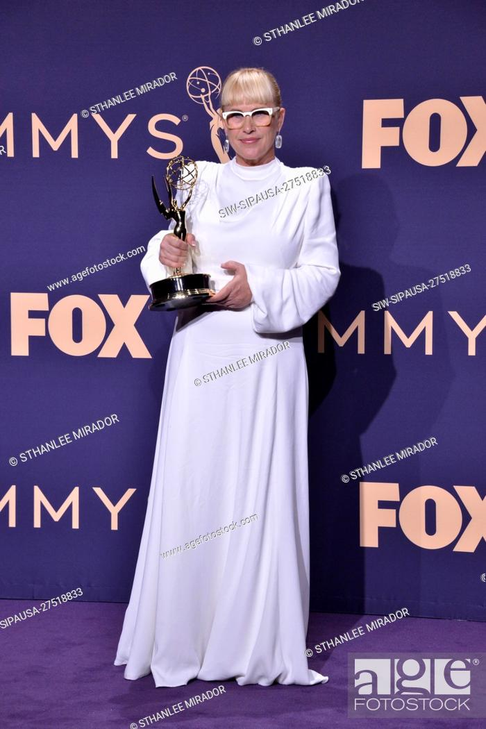 Stock Photo: Patricia Arquette poses in the press room at the 71st Primetime Emmy Awards held at Microsoft Theater on September 22, 2019 in Los Angeles, CA.