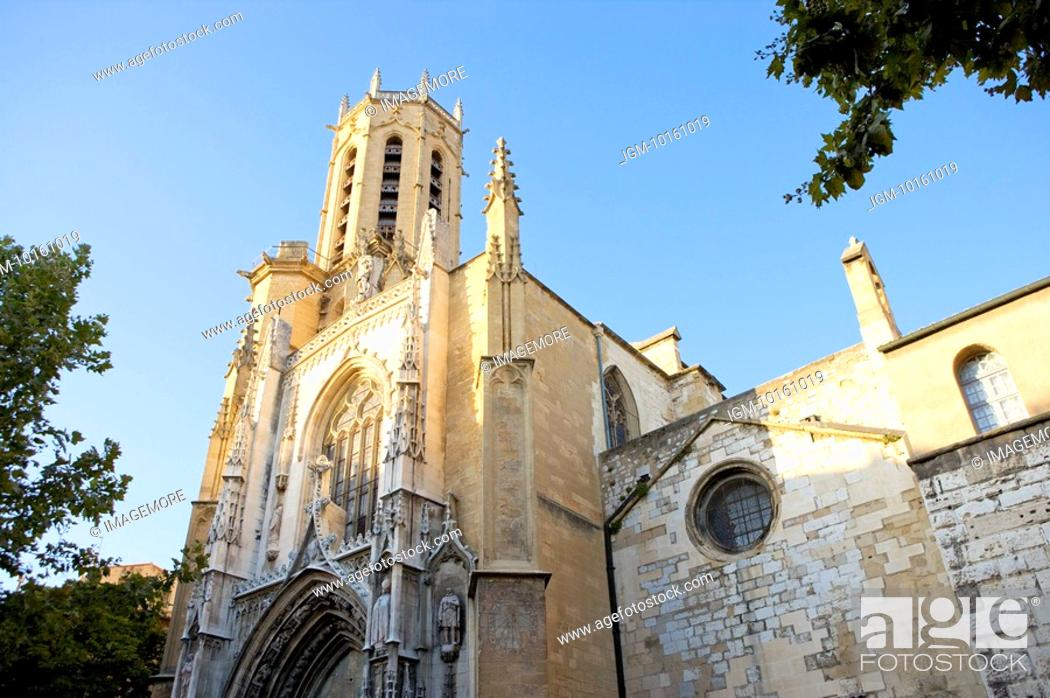Stock Photo: Church in Aix-en-Provence, Provence-Alpes-Cote d'Azur, France.