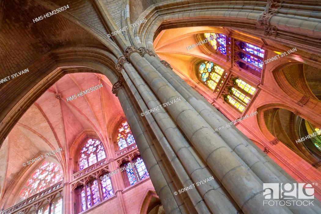 Stock Photo: France, Nievre, Nevers, Saint Cyr Sainte Julitte Cathedral.