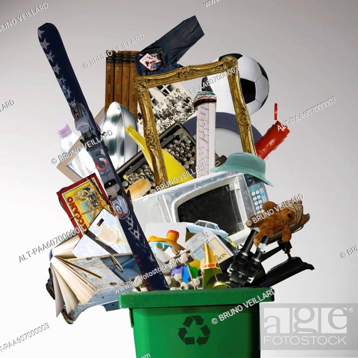 Stock Photo: Products made with recycled material.