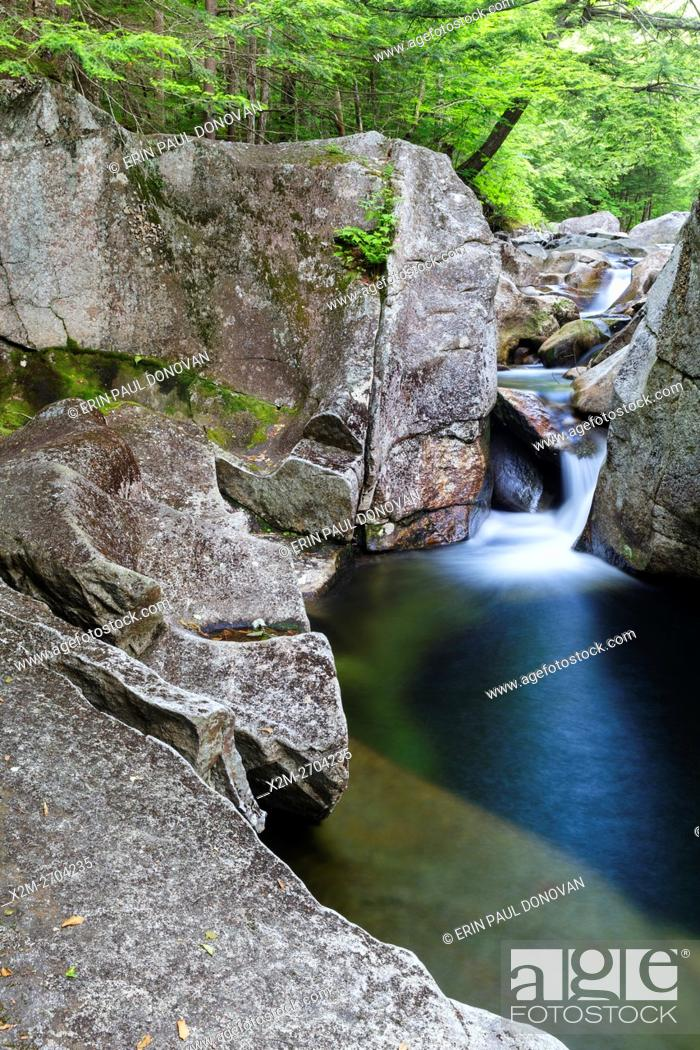 Stock Photo: Lost River in Kinsman Notch of Woodstock, New Hampshire during the summer months.