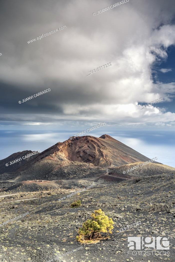 Stock Photo: Volcano Teneguia, La Palma, Canary islands, Spain.