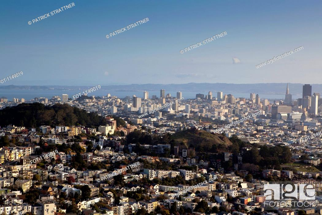 Stock Photo: View over San Francisco, California, USA.