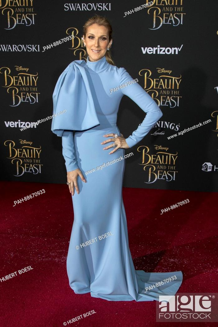 Celine Dion attends the World Premiere of Disney\'s \'Beauty And The ...