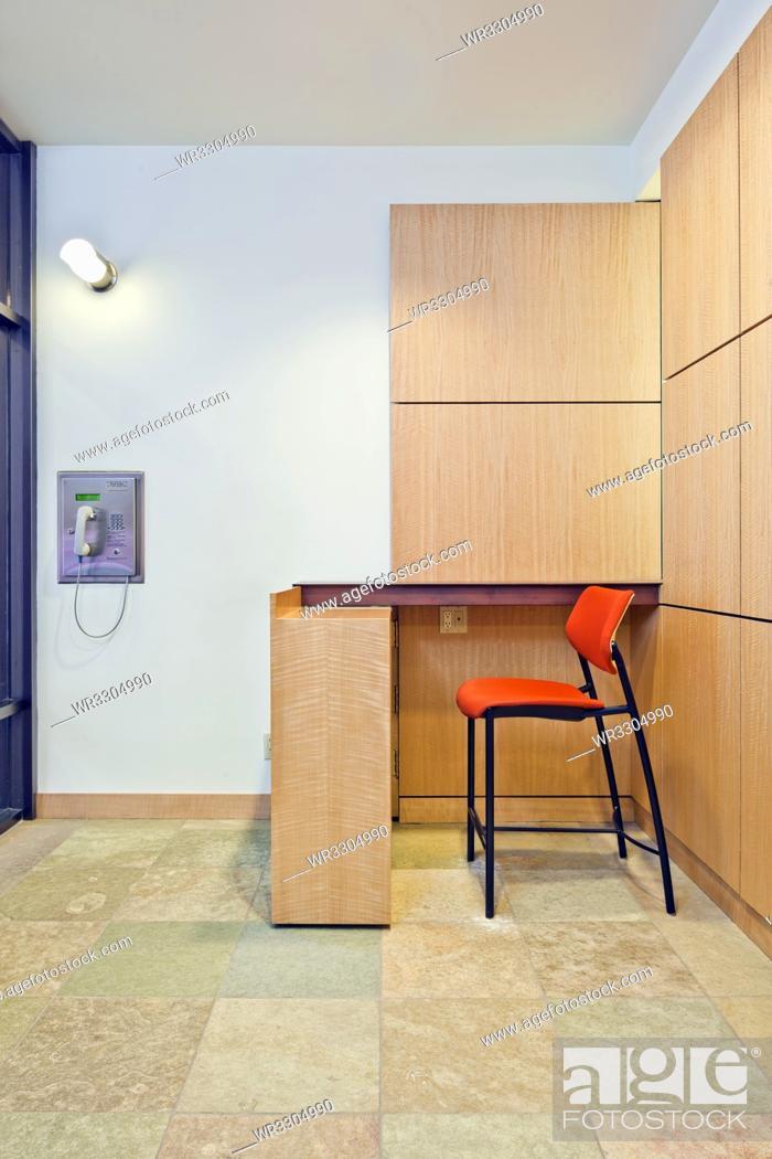 Stock Photo: Lobby Security Desk.