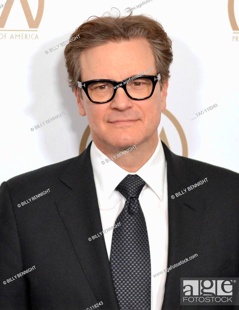 Stock Photo: Colin Firth arrives at the 28th Annual Producers Guild Awards at The Beverly Hilton Hotel in Beverly Hills, California on January 28, 2017.