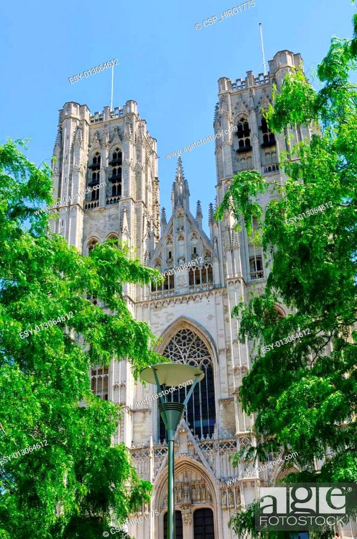 Photo de stock: Cathedral St.Michel in Brussels, Be.
