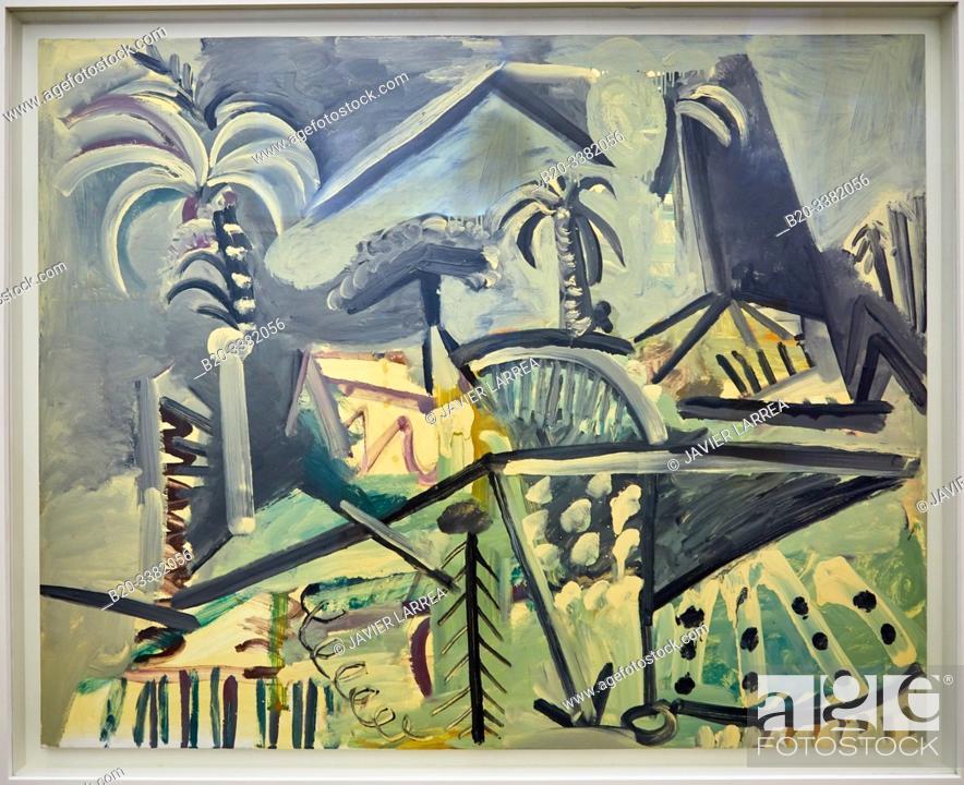 "Stock Photo: ""Paysage"", 1972, Pablo Picasso, Picasso Museum, Paris, France, Europe."