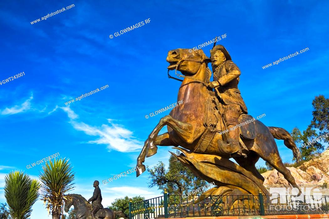 Stock Photo: Low angle view of a statue, Zacatecas State, Mexico.