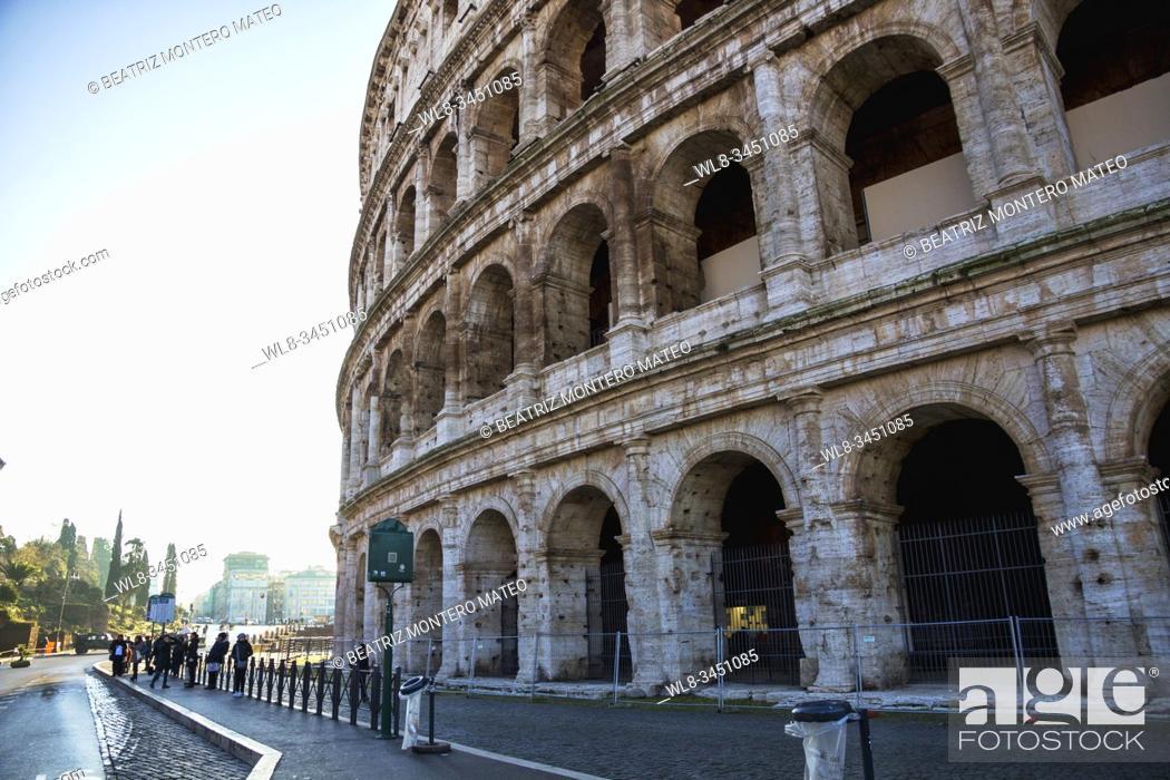Stock Photo: Rome Colosseum (Italy).