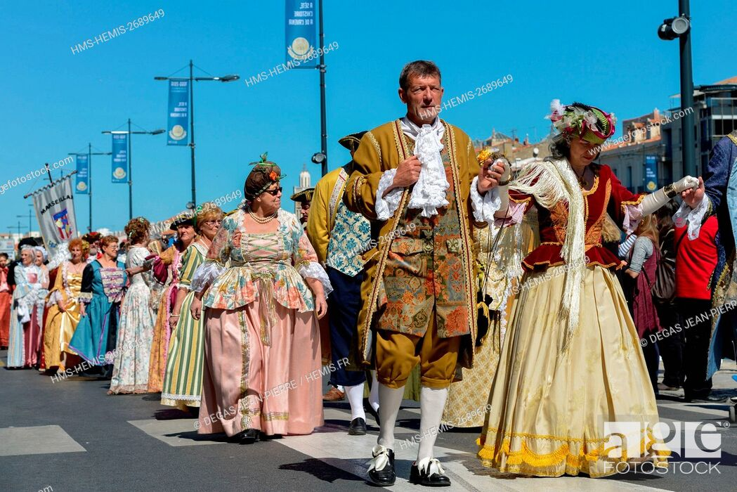 Stock Photo: France, Herault, Sete, Escale a Sete Festival, costume parade a notable recovery of the seventeenth century.