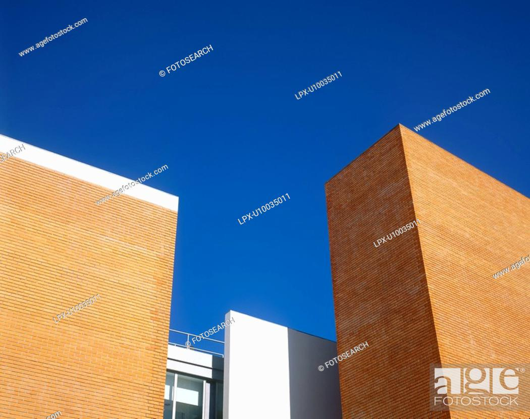 Stock Photo: Detail of contemporary building design.