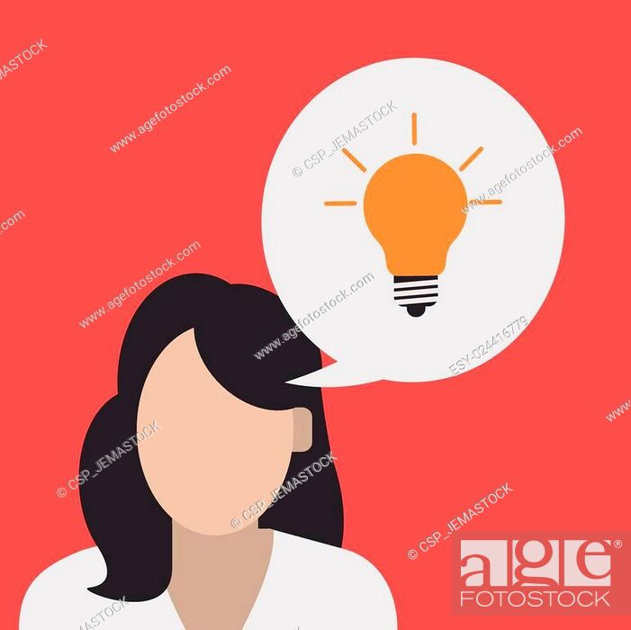 Stock Vector: Big idea design.