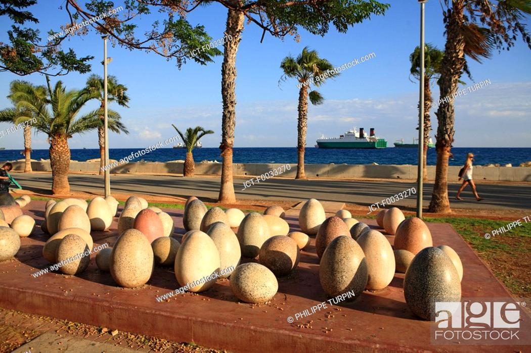 Stock Photo: Cyprus, Limassol, art on the promenada.