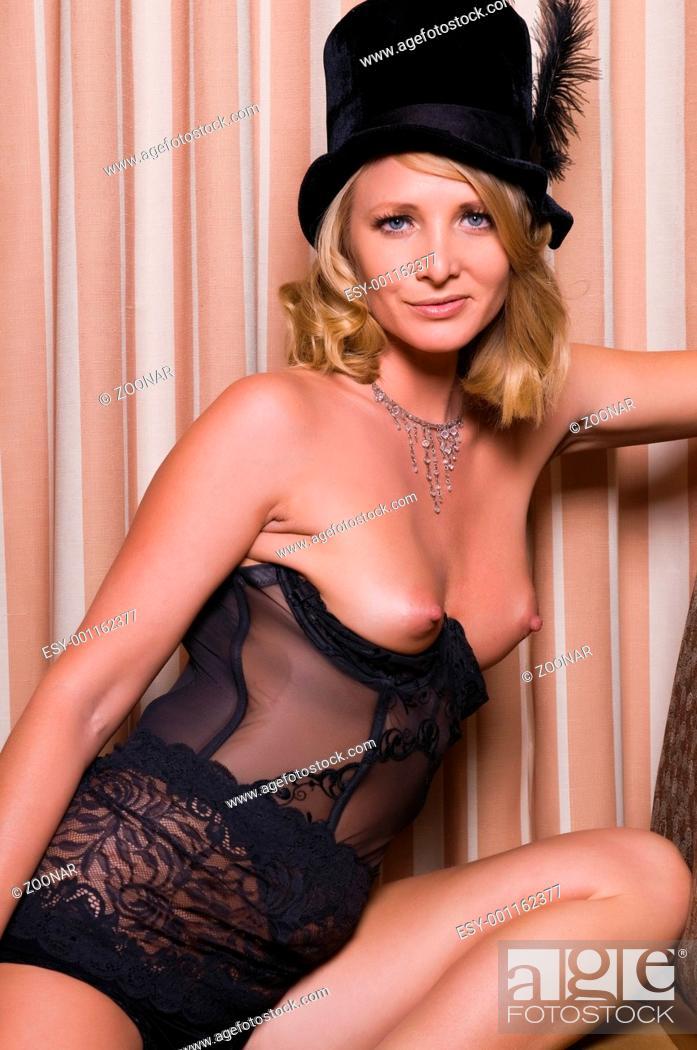Stock Photo: blonde woman.