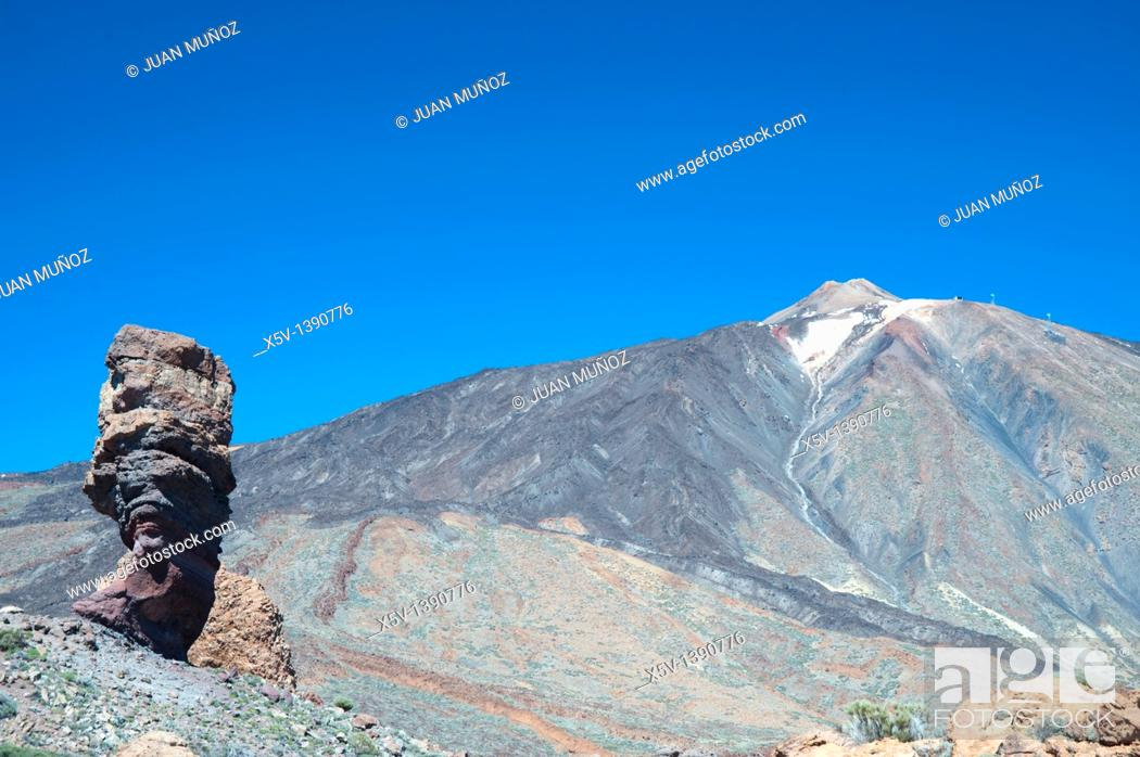 Stock Photo: Teide volcano. Cañadas del Teide National Park. Canary Islands. Tenerife. Spain.