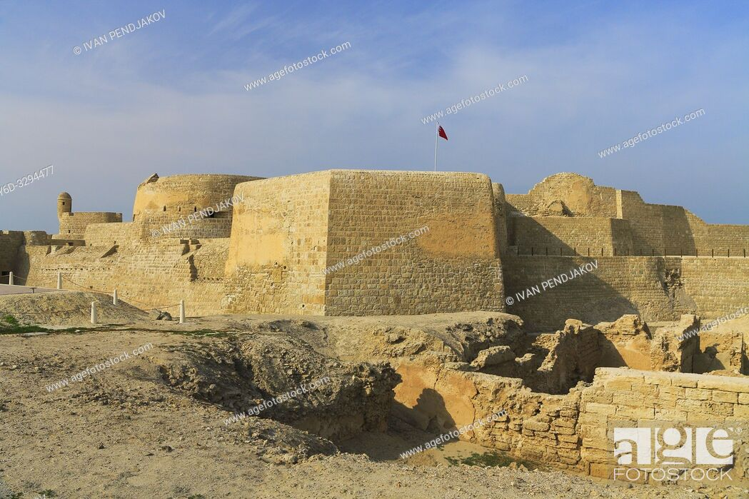 Stock Photo: Bahrain Fort, Capital Governorate, Bahrain.