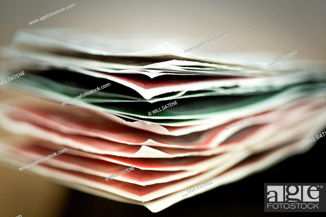 Stock Photo: Close up of paper money.