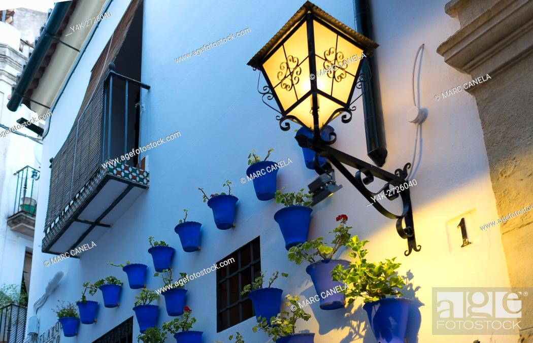 Stock Photo: Europe, Spain. Andalusia, Cordoba, street.