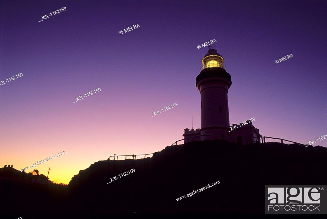 Stock Photo: Lighthouse in Cape Town Byron Bay New South Wales Australia.