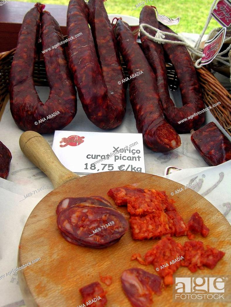 Stock Photo: Sausages.
