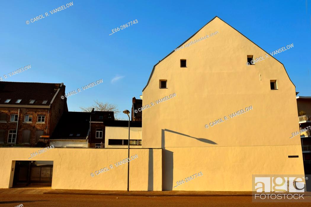 Stock Photo: Side of building on the Hoge Barrakkan in Maastricht Ceramique neighbourhood. Building has been freshly painted.