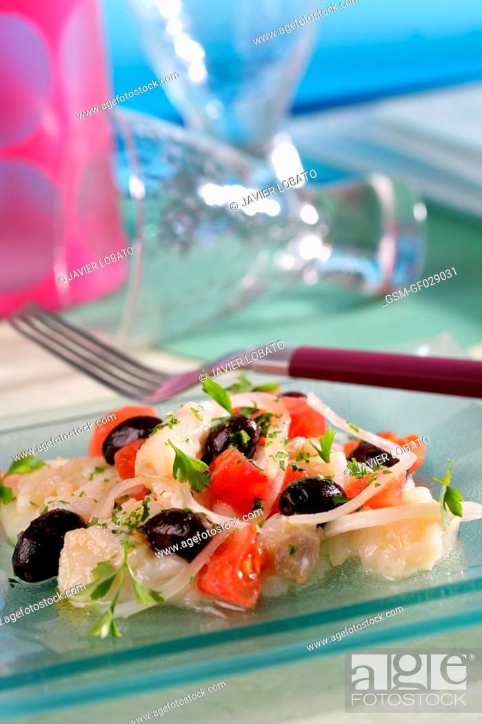 Stock Photo: Shredded salt cod salad.