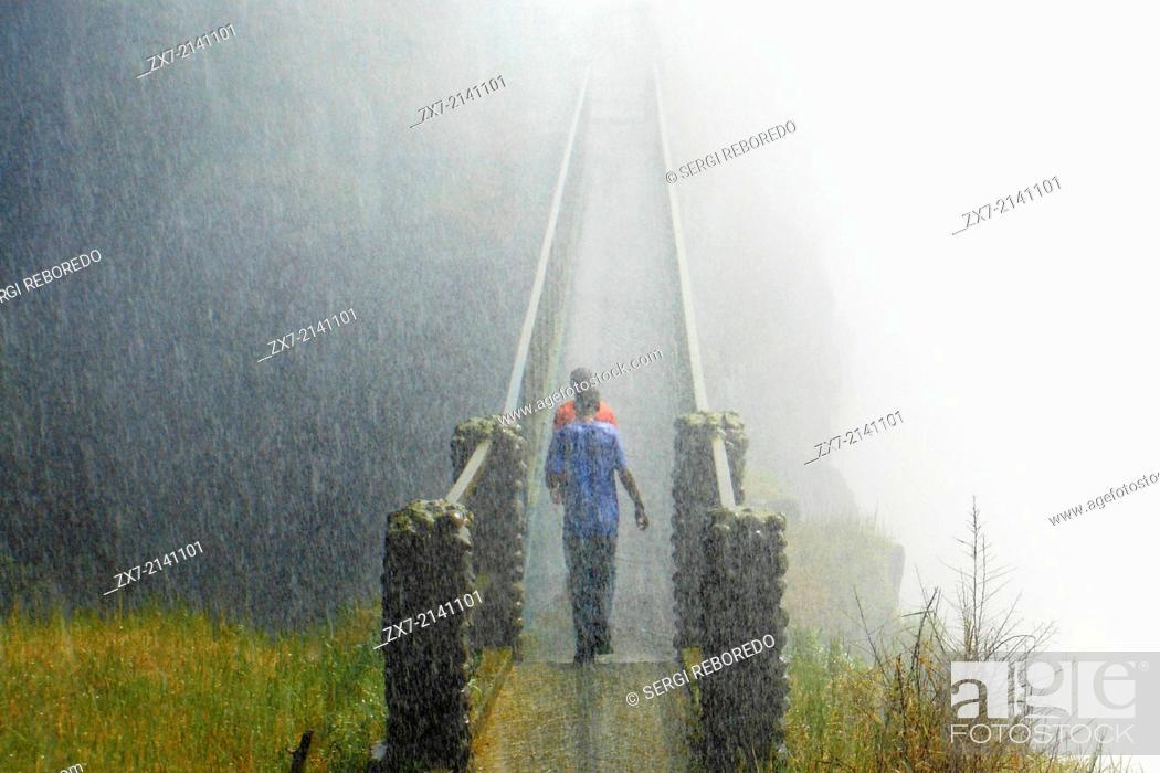 Stock Photo: Around Victoria Falls you can walk.