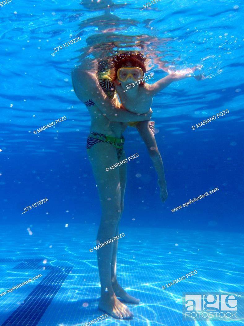 Stock Photo: Girl in pool.