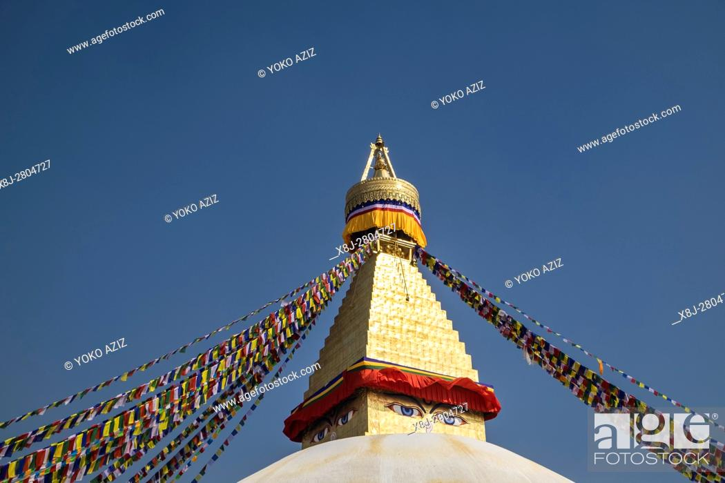Imagen: Nepal, Bouddhanath, local temple.
