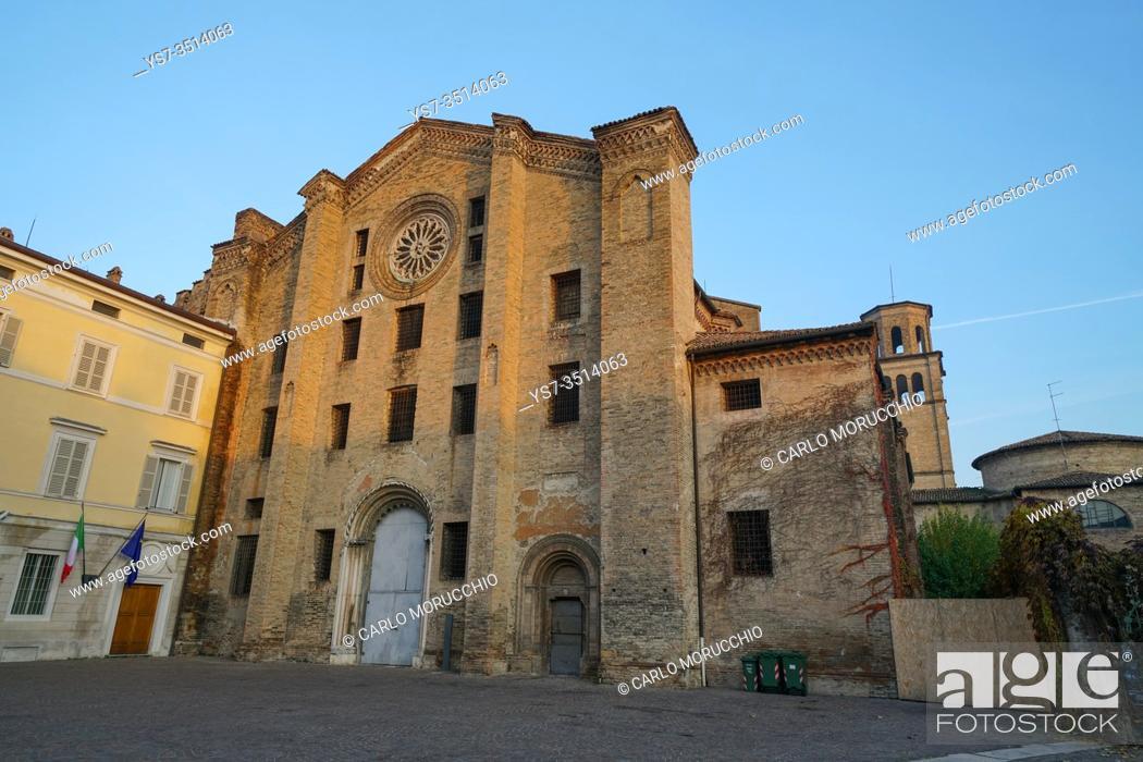 Stock Photo: San Francesco del Prato church, it was the city's jail, Parma, Emilia Romagna, Italy, Europe.