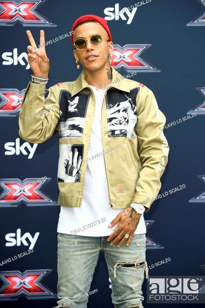 Stock Photo: Rapper Sfera Ebbasta during the photocall of X Factor 2019, Milan, ITALY-10-09-2019.