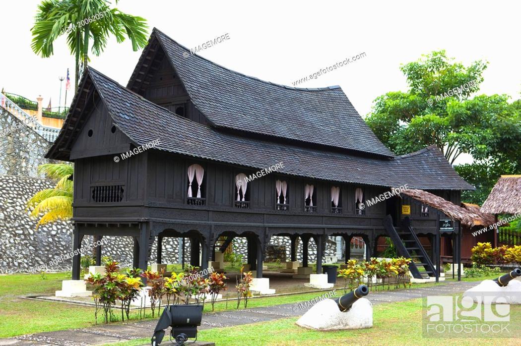 Stock Photo: Malaysia, Melaka State, Stilt House.