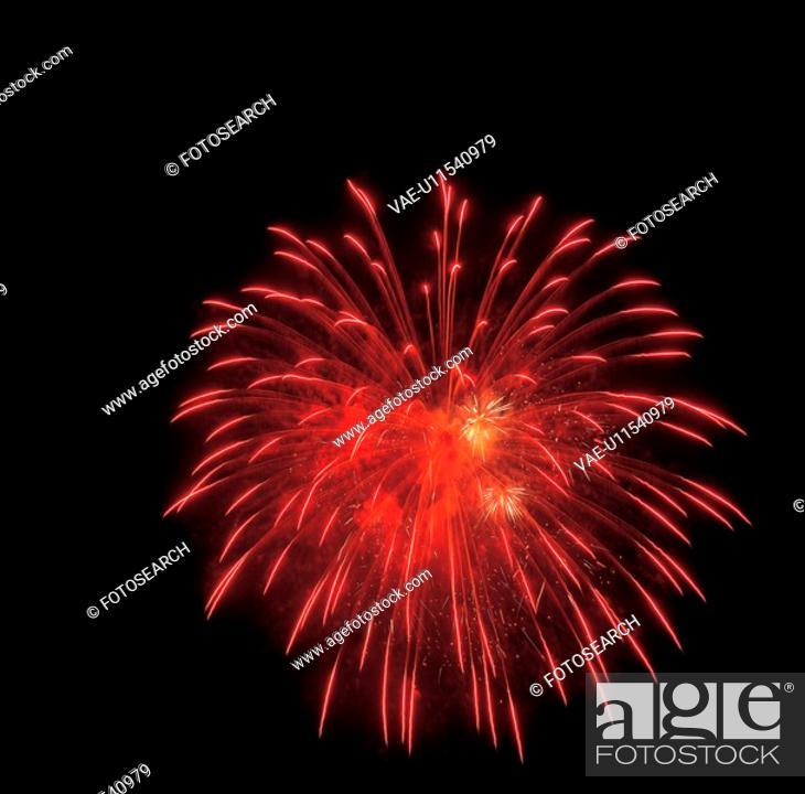Stock Photo: city scenery, fireworks, city, landscape, scenery, night.