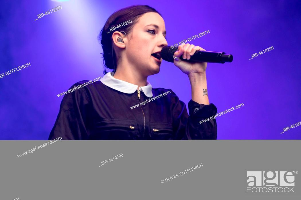 The French pop singer Jain live at the 26th Heitere Open Air