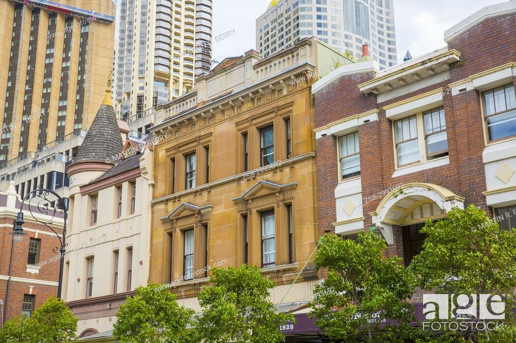 Stock Photo: The Rocks area of Sydney city centre with its historic features from the early settlers, Sydney city centre, Australia.