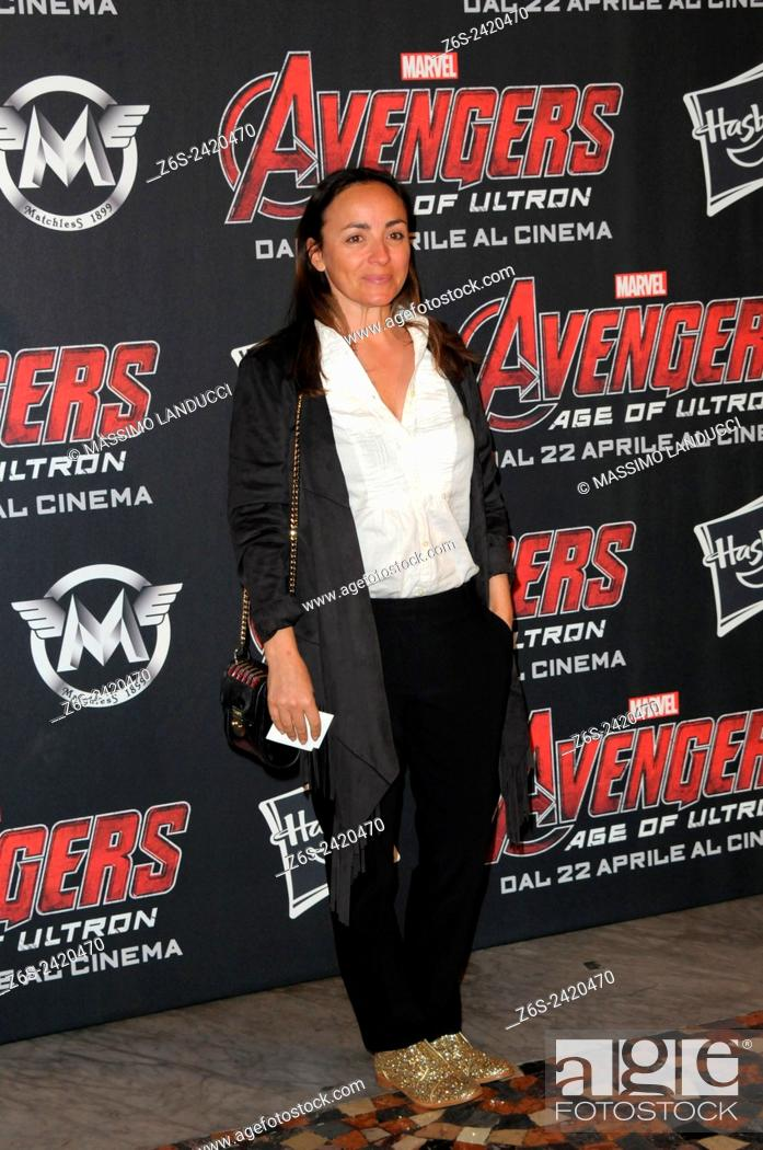 Stock Photo: Camila Raznovich ; Raznovich; actress ; celebrities; 2015;rome; italy;event; red carpet ; avengers, age of ultron.