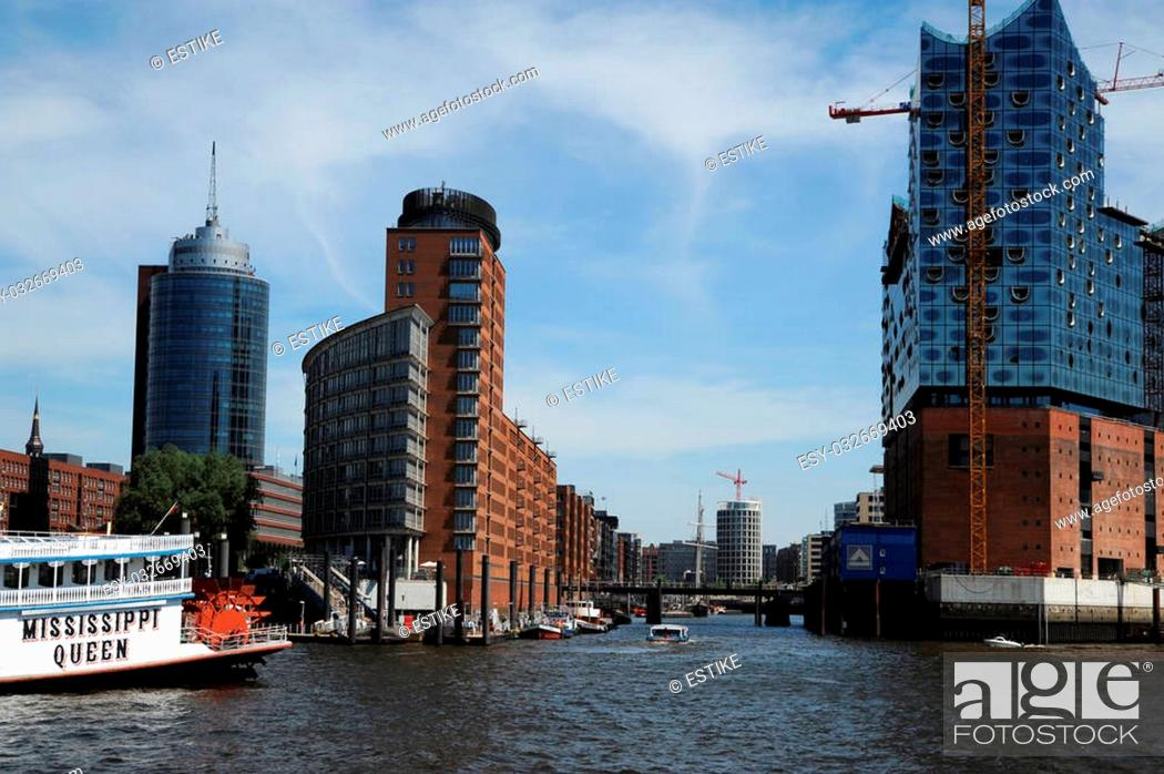 Stock Photo: Hafencity and Elbphilharmonie in Hamburg.