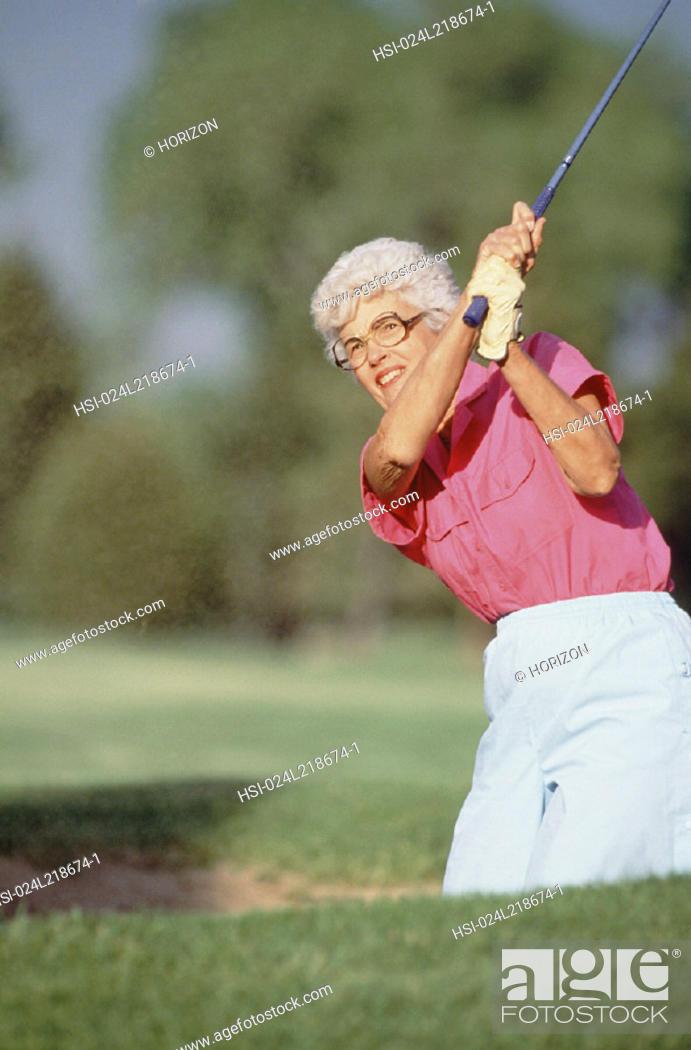 Stock Photo: Sport & Recreation, Golf, Woman.