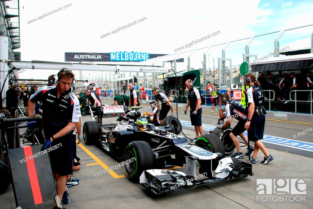 Stock Photo: Bruno Senna BRA Williams F1 Team, F1, Australian Grand Prix, Melbourne, Australia.