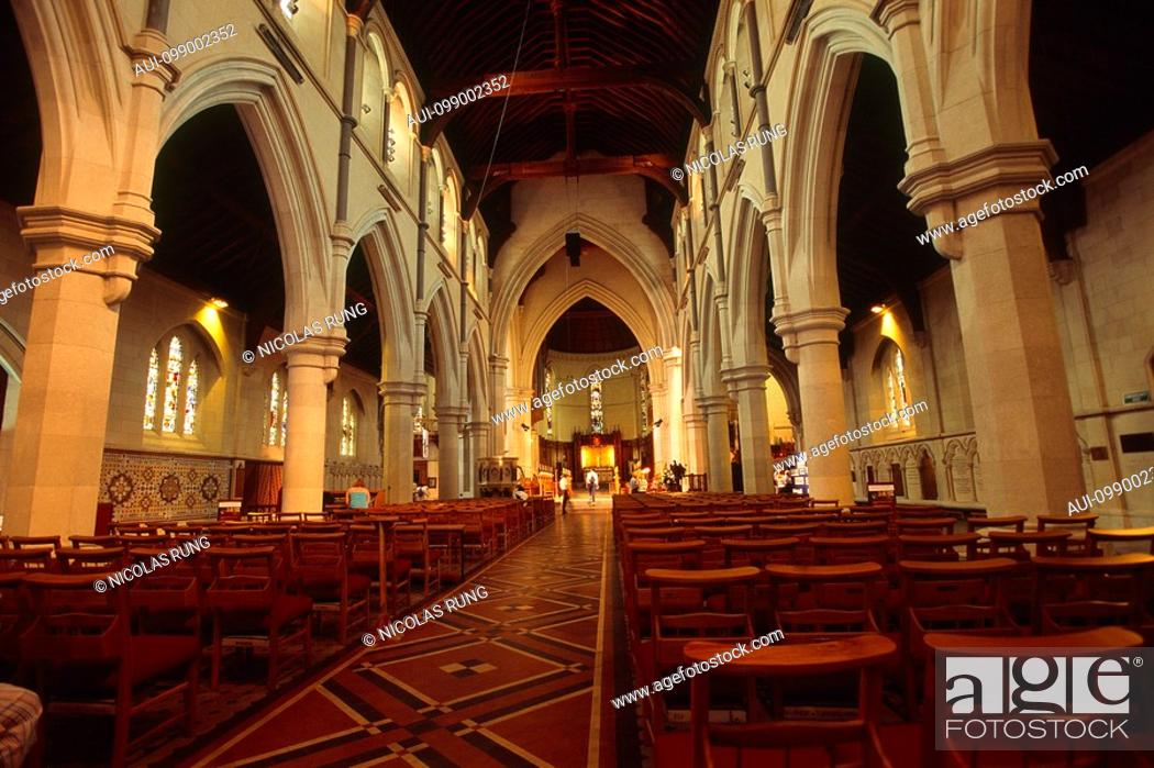 Stock Photo: New Zealand - South Island - Canterbury - Christchurch Cathedral.