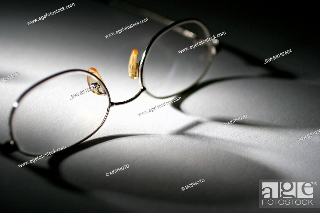 reading glasses, Stock Photo, Picture And Rights Managed