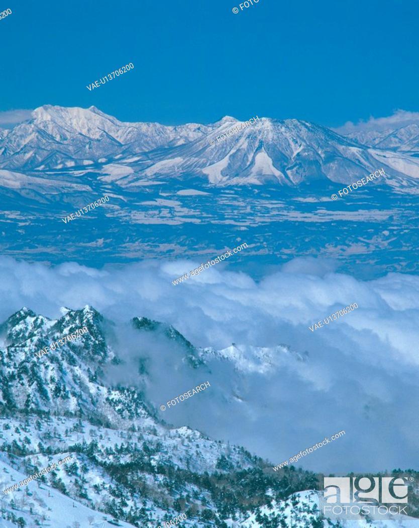 Stock Photo: winter, landscape, snowscape, snow, mountain, cloud, nature.