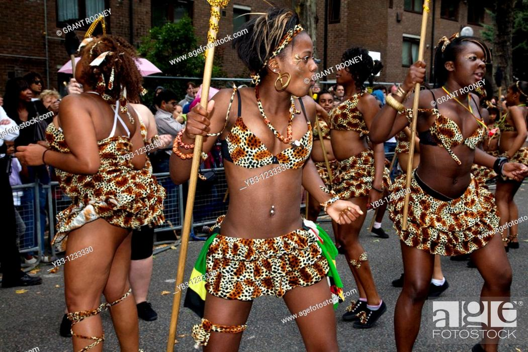 Stock Photo: Notting Hill Carnival 2010, Europe's Largest London, England.